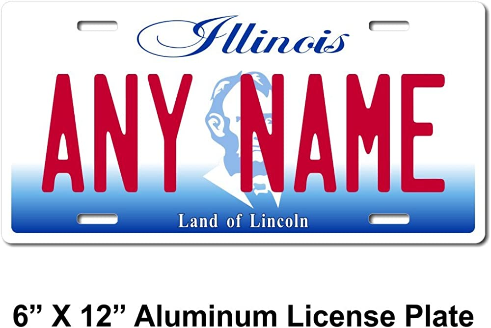 Sizes for Kids Bikes TEAMLOGO Personalized Illinois License Plate Cart Key Rings Version 2 Trucks Cars