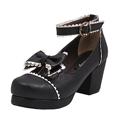 Partiss Damen Gothic High-top Boots Casual Schuhen Lolita Pumps Herbst  Fruehling Rubber-Soled Lace Lolita Schuhe: Amazon.de: Schuhe & Handtaschen