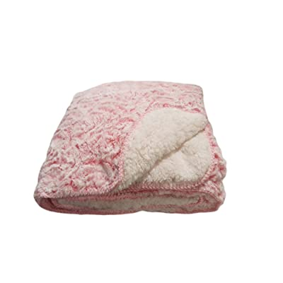 Regal Comfort Sherpa Luxury Throw Rose Print, Pink 50in.x70in: Home & Kitchen