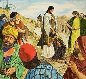 The Amazing Love of Jesús (297470), lino, 20 x 20 cm