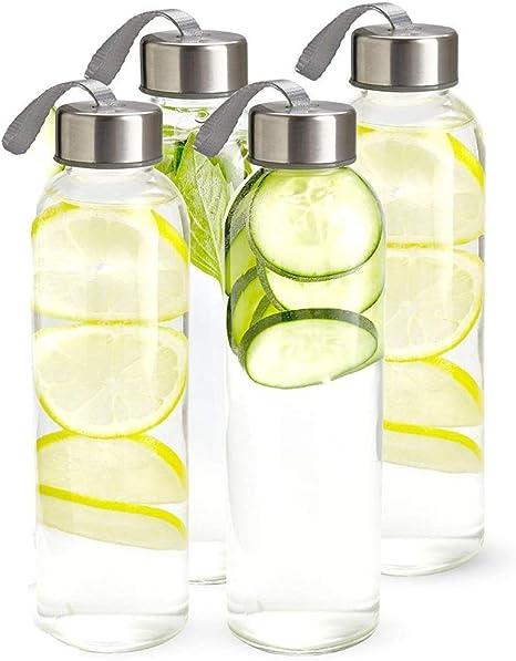NEW Yellow Citrus Lemons Reusable Water Bottle w// Metallic Lid BPA Free Plastic
