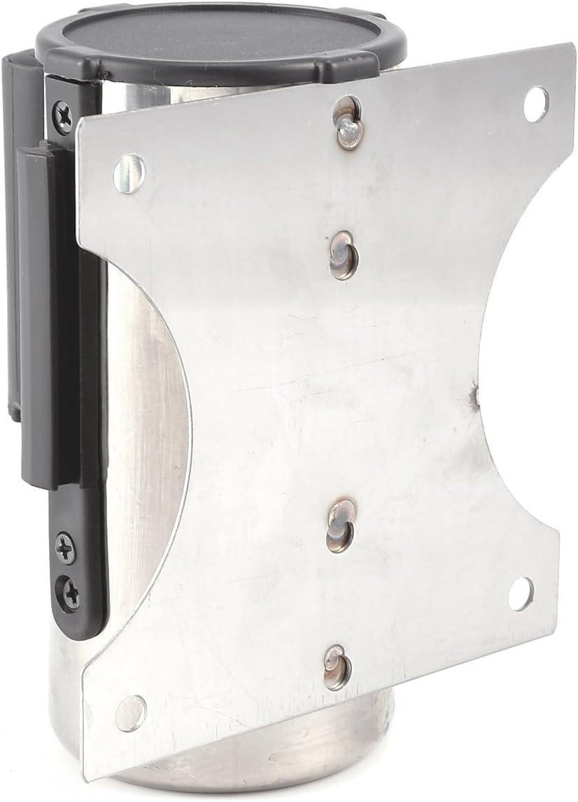 3m/& acero 2//3M Barrera de Puntal Cola Barrera Cintur/ón Retr/áctil para Controlar 2 Estilos Acero Inoxidable Metal Color rojo