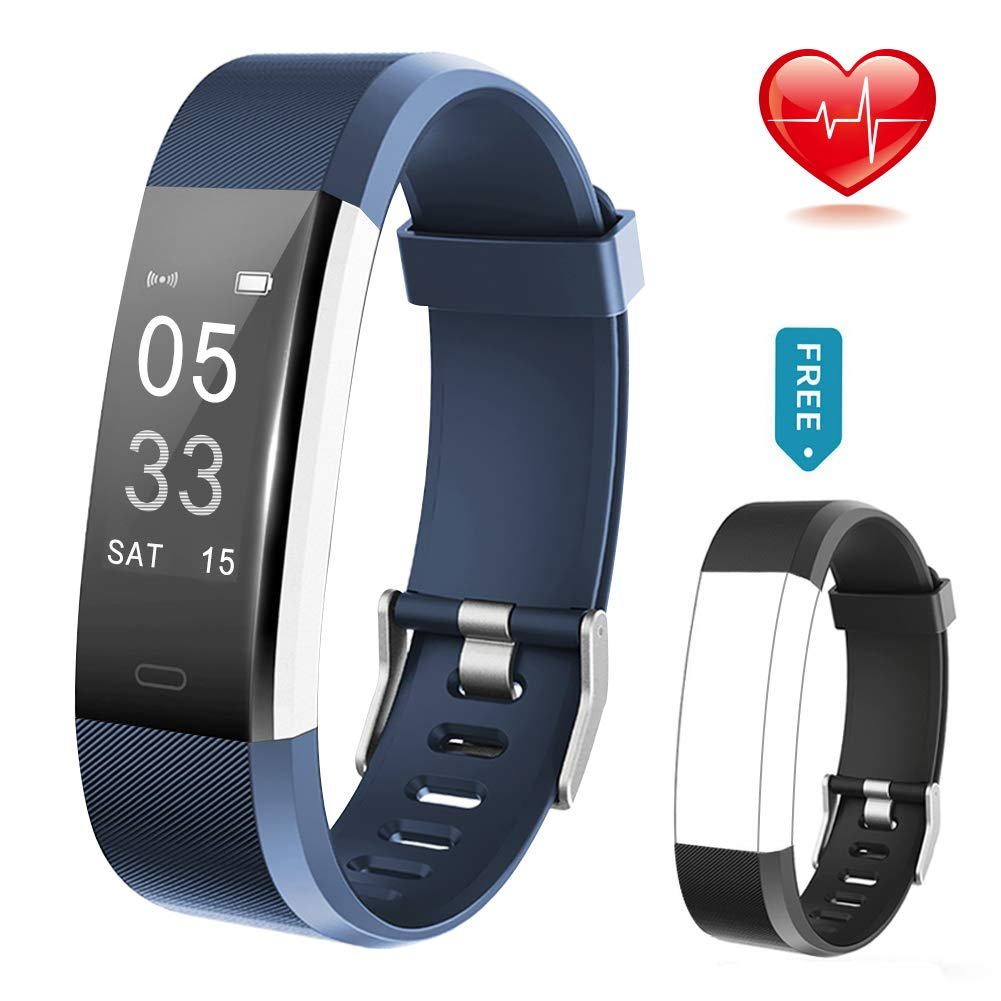 Lintelek Fitness Tracker Fitness Armband Fitness Uhr Smart Armband Schrittzä hler Pulsmesser Herzfrequenzgerä t Schlafmonitor Vibrationsalarm Kompatibel mit IOS Android