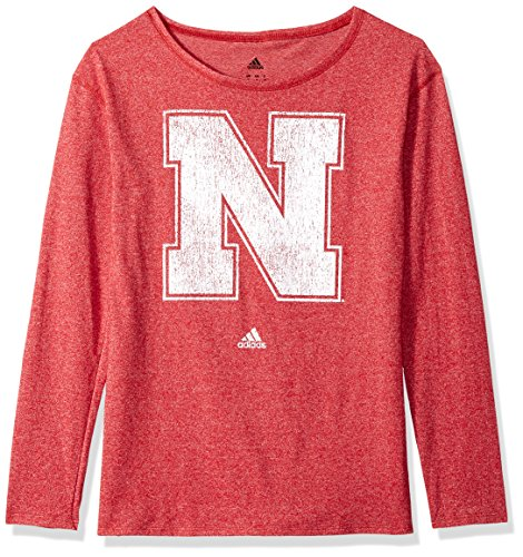 Cornhuskers Womens Her Full Color Primary Logo L/s Crew Teeher Full Color Primary Logo L/s Crew Tee, Power Red, X-Large ()
