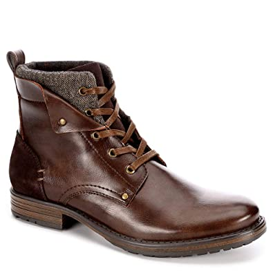 03da245c6db Jeffrey Tyler Mens Kolby Faux Leather Lace Up Boot Shoes