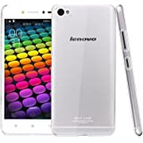 Heartly Imak Crystal Clear Hot Transparent Flip Thin Hard Bumper Best Back Case Cover For Lenovo Sisley S90 Dual Sim