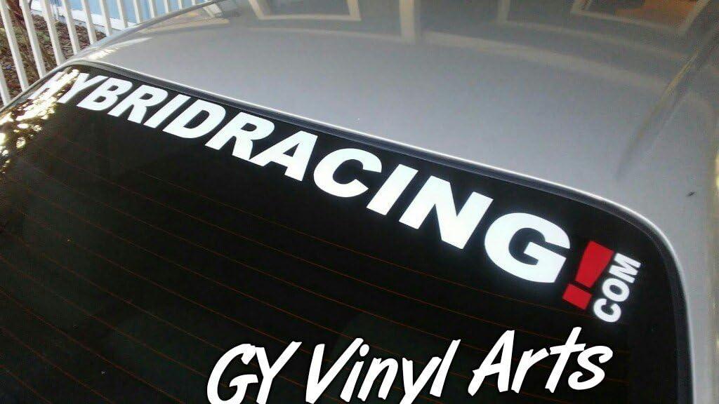 Hybridracing banner Visor decal sticker Windshield graphic honda