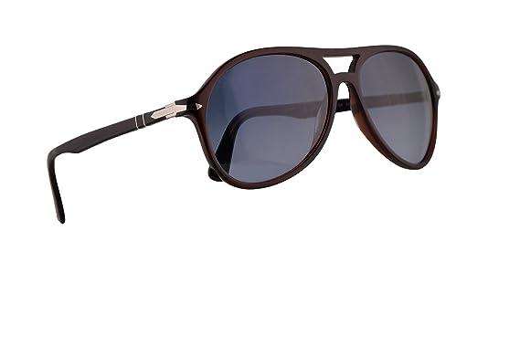 4673842a9790 Image Unavailable. Image not available for. Color: Persol 3194-S Sunglasses  Transparent Havana w/Azure Gradient Blue Lens 59mm 1075Q8 PO