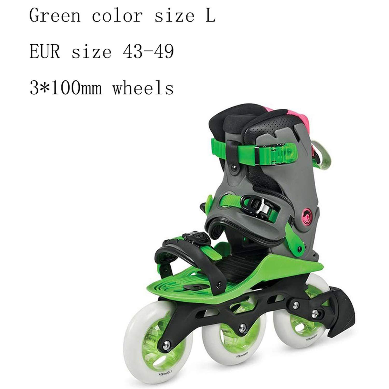 Original Doop Leisure Roller Skating Shoes 484Mm Or 3100Mm Wheels Leisure Skates Free Skating Athletic Street Patines,Green L 3-100Mm