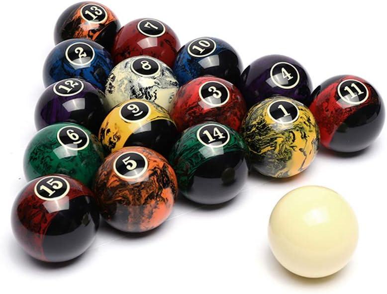 BEKZILY Lot de 16 balles de billard professionnelles pour tables de billard