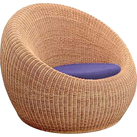 Virasat Furniture Furnishing Bamboo Cane Sofa Chair Beige