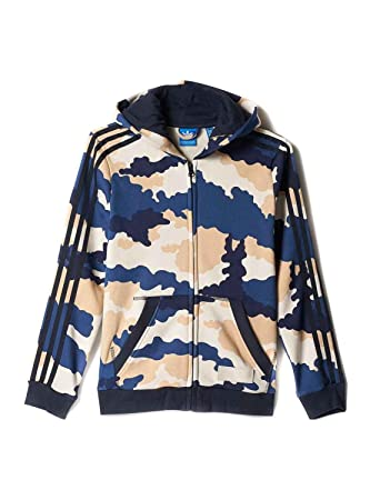 adidas Jungen J TKO AOP ZP HD Sweatshirt, Mehrfarbig (Multco
