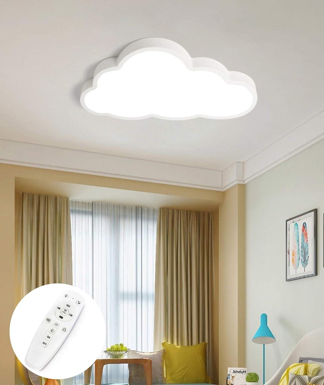 36W lumi/ère blanche chaude LIUNIAN Le plafonnier ultra-mince a men/é la lampe de plafond de bande dessin/ée de nuages cr/éatifs de 5cm pour la maternelle de chambre /à coucher de filles de gar/çons