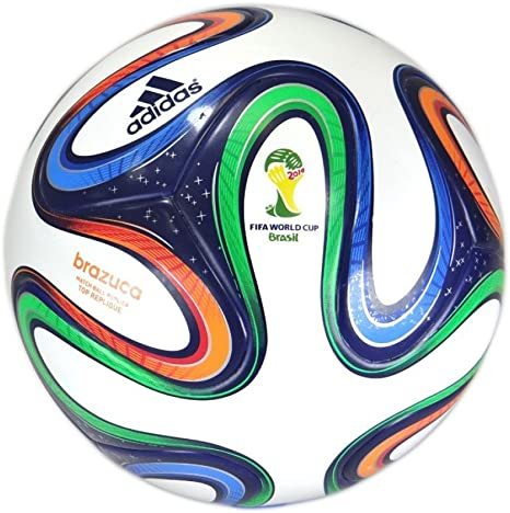 adidas Brazucatopgli - Balón, Color Blanco/Dorado, Talla 5: Amazon ...