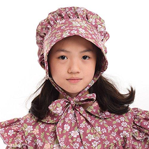 GRACEART Girl's 100% Cotton Pioneer Prairie Bonnets (8 colors option) F -
