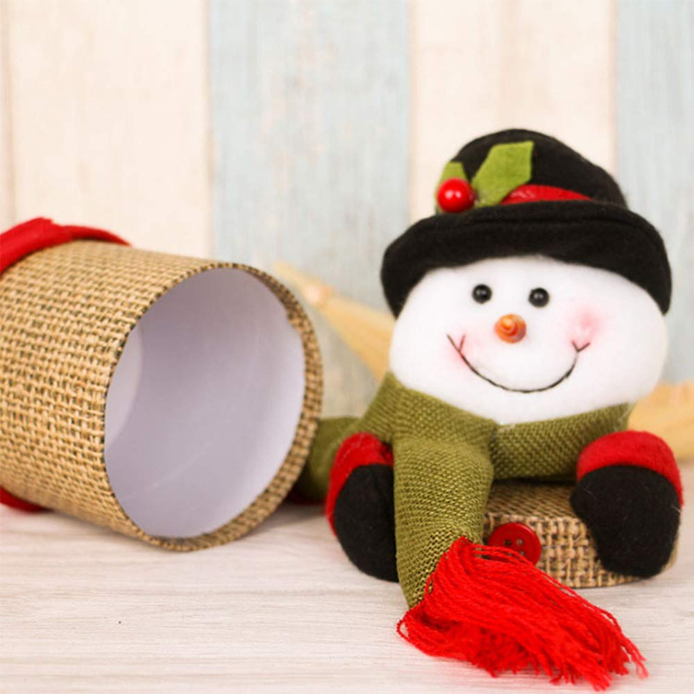 Storage Candy Jar, MatureGirl Clearance Sale! Child Kids Christmas Candy Jar Storage Bottle Santa Bag Sweet Christmas Box Gift Basket (B) by MatureGirl (Image #3)