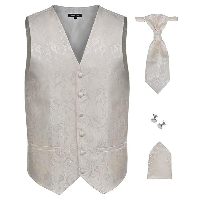 vidaXL Accesorios de boda para hombre con chaleco de cachemira  Amazon.es   Ropa y accesorios 9452a4588a4