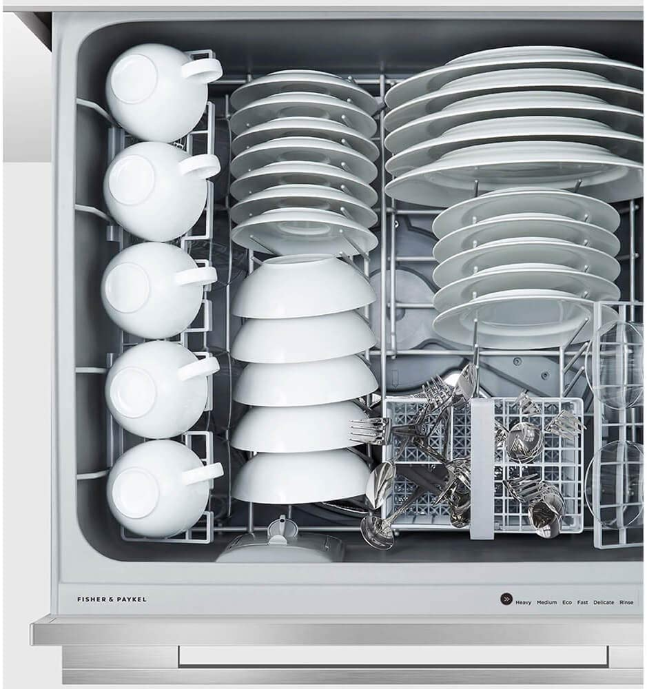 Ergonomic DishDrawer Technology Fisher Paykel DD24DI9N 24 Inch Fully Integrated Dishwasher with 9 Wash Cycles 14 Place Settings
