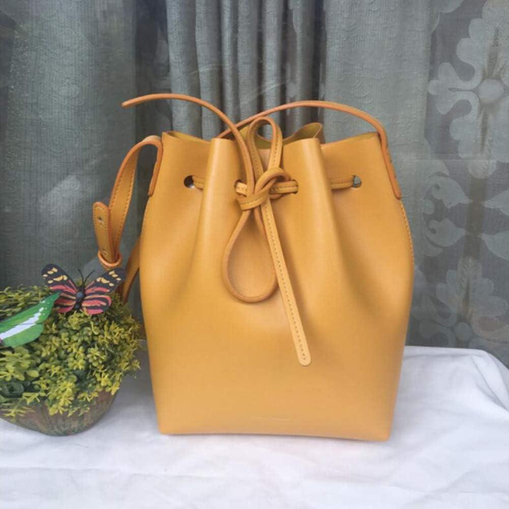 XINYANG Sac seau MINI pour femme, sac à bandoulière en cuir MINI Yellow