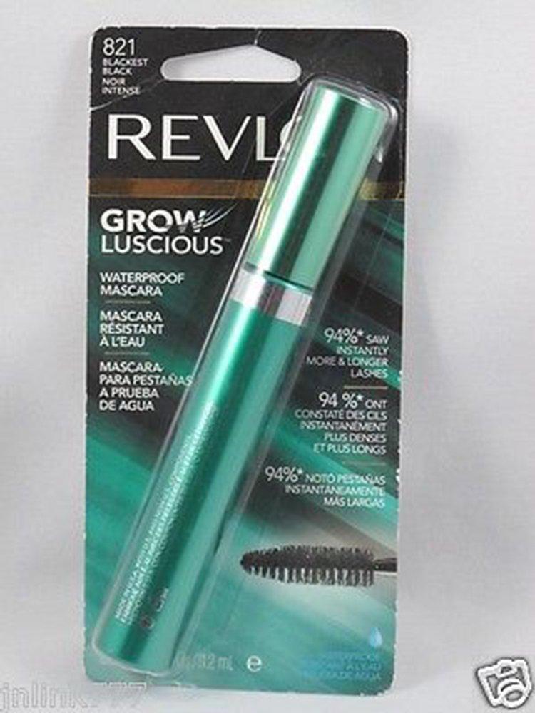 Amazon.com : Revlon Grow Luscious Waterproof Mascara 821 Blackest Black with Bonus Kajal Eyeliner in Matte Charcoal : Beauty