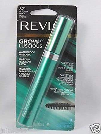 Revlon Grow Luscious Waterproof Mascara 821 Blackest Black with Bonus Kajal Eyeliner in Matte Charcoal