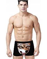 Carlie Mens 3D Sexy Wolf Head Boxers Briefs Underpants Short Underwear