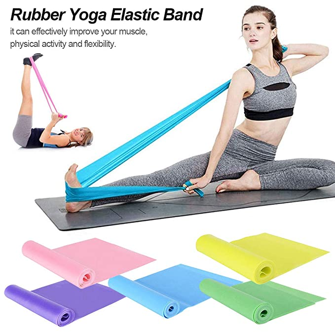 Pellisilot Fitness Resistance Band/Rubber Yoga Elastic Band ...
