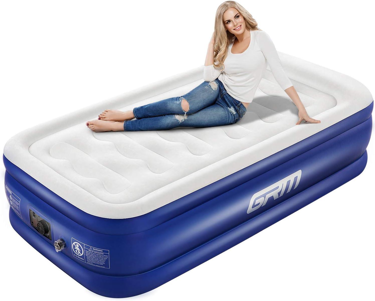 Amazon.com: GRM - Colchón de aire con bomba y almohada ...