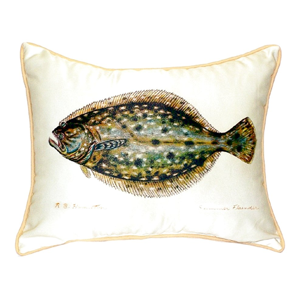 Betsy Drake SN014 Flounder Small Indoor/Outdoor Pillow 11\' x14\'