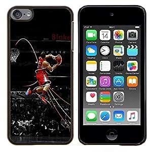 Baloncesto Leyenda- Metal de aluminio y de plástico duro Caja del teléfono - Negro - iPod Touch 6