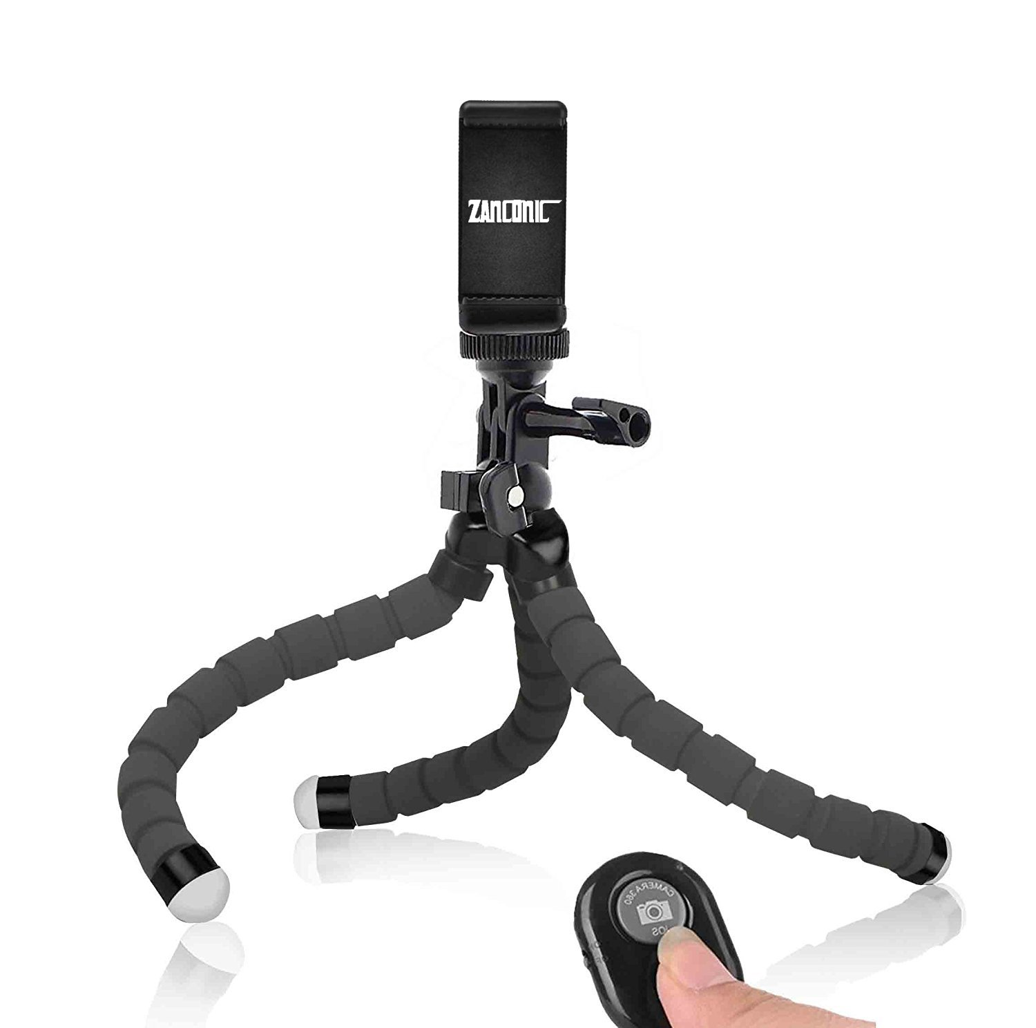 Phone Tripod, Anconic flexible cell phone Tripod with Remote for Iphone& Android Phone, Camera, and Gopro[UPGRADED] by ZANCONIC (Image #7)