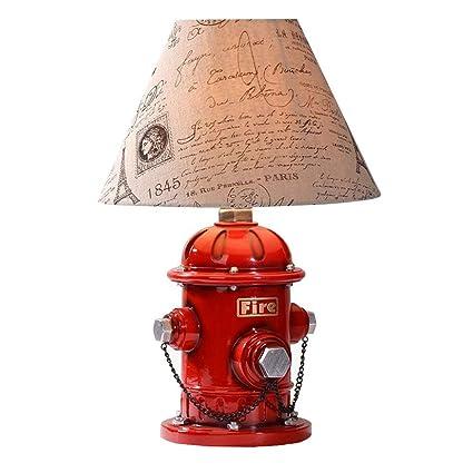 LW Lámpara de Mesa Creativa de Resina de Estilo Industrial ...