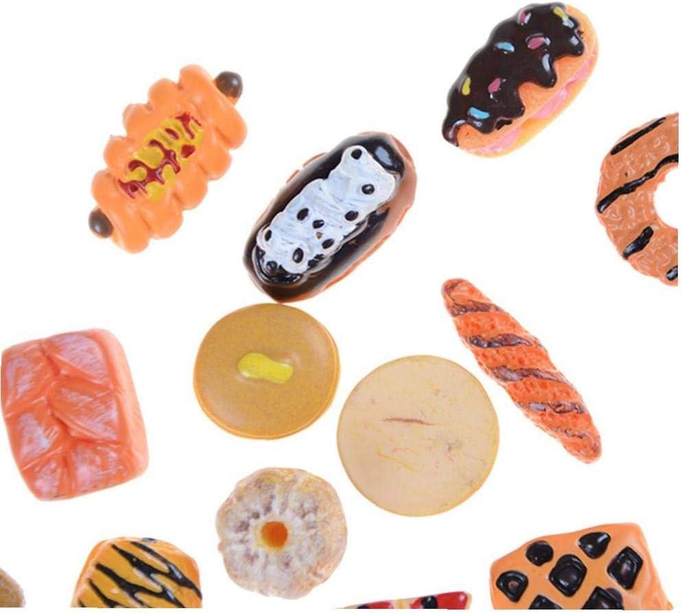 10pcs Mini Juego Lindo Juguete Alimento De La Fruta Torta De La Galleta Donuts En Miniatura para Accesorios De Las Mu/ñecas Cocina De Juguete Juguetes