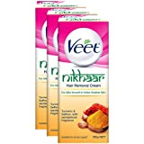 Veet Nikhaar Hair Removal Cream for All Skin Types - 50 g (Pack of 3)