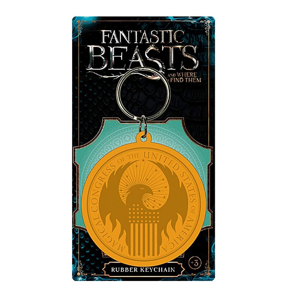 Amazon.com: Warner Bros - Llavero de goma con logotipo de ...