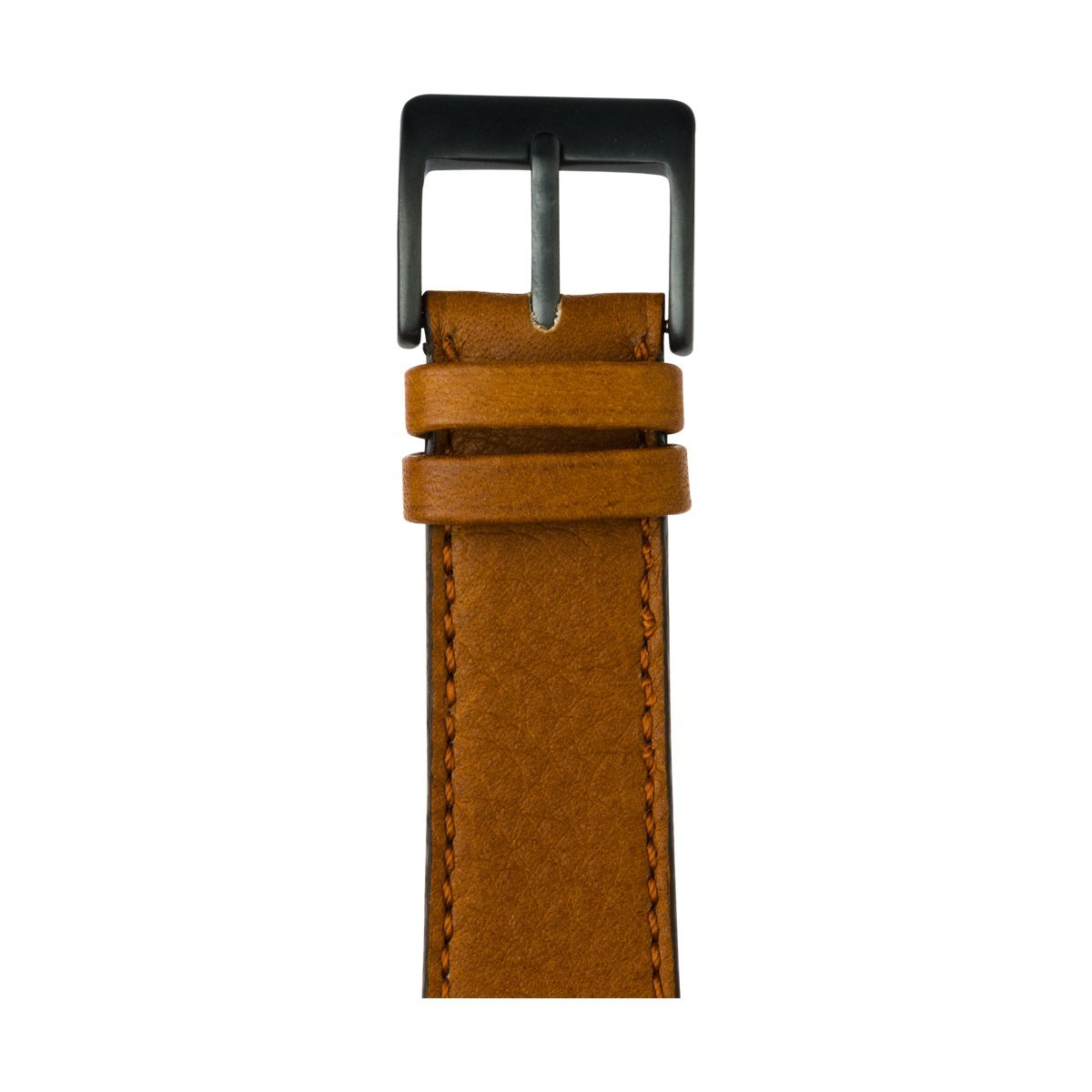 Roobaya | Premium Sauvage Leather Apple Watch Band in Cognac | Includes Adapters matching the Color of the Apple Watch, Case Color:Space Gray Aluminum, Size:38 mm