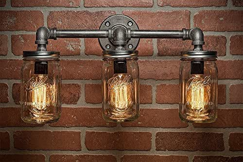 Amazon.com: Farmhouse Lighting Lighting Mason Jar Light Steampunk Lighting Bar Light