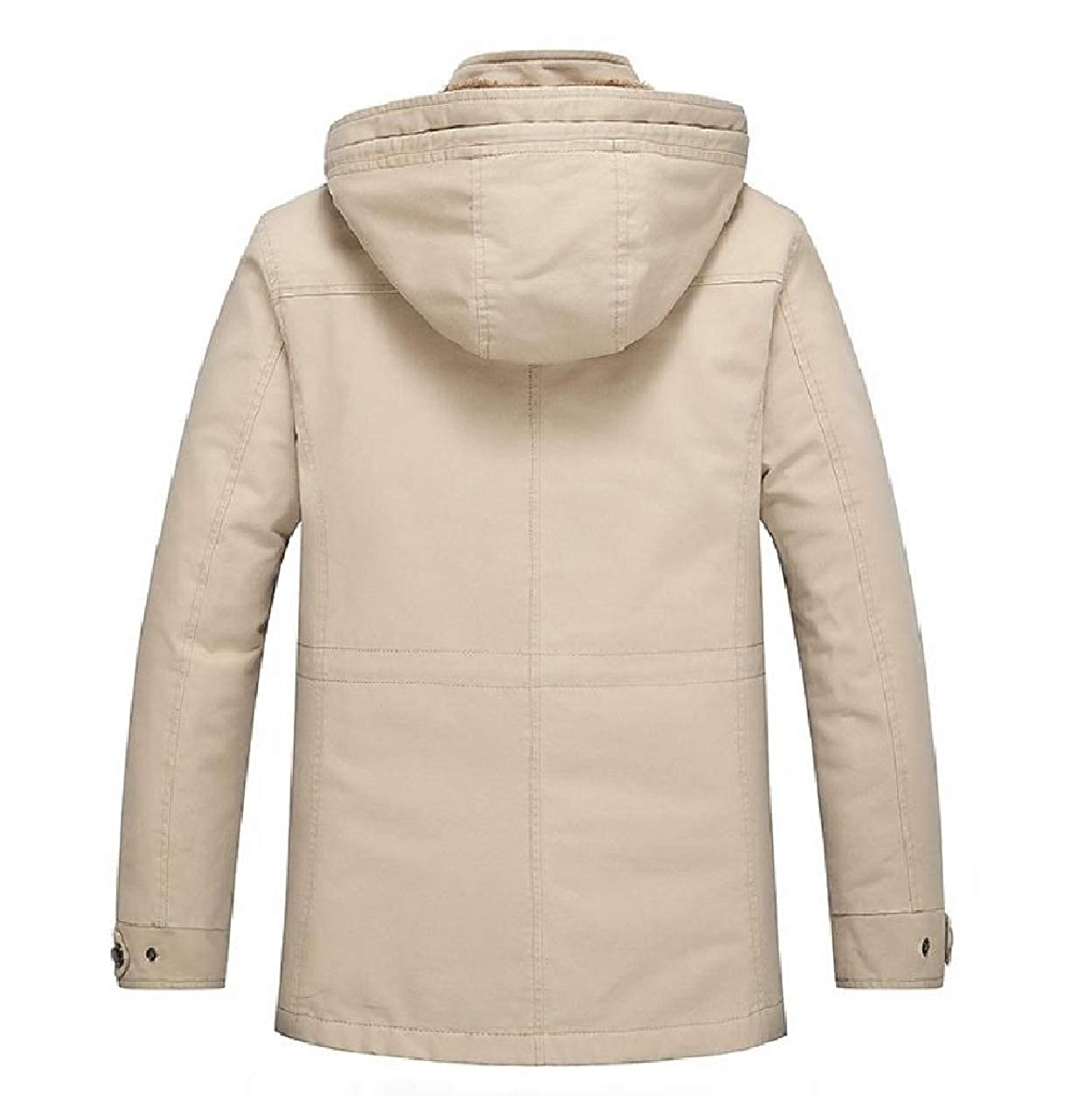 SportsX Mens Cotton Removable Hood Hoodie Winter Down Jackets and Coats