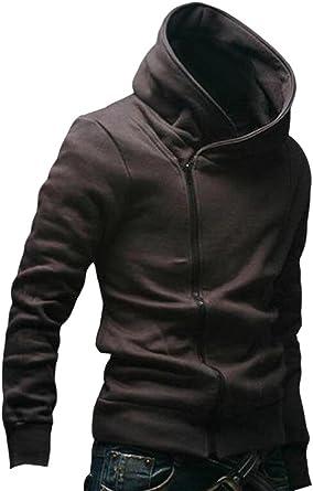 RRINSINS Mens Slim Fit Long Sleeve Fleece Lined Hooded Sweatshirt Jacket