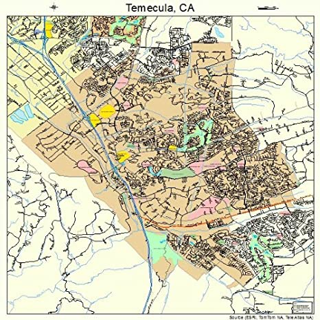 Map Of Temecula Ca Amazon.com: Large Street & Road Map of Temecula, California CA  Map Of Temecula Ca