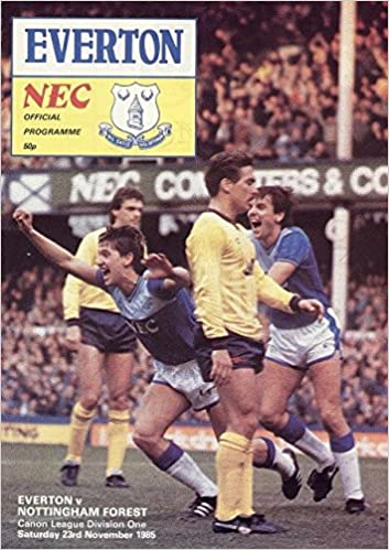 Everton v Nottingham Forrest Division 1 23/11/85 Programme