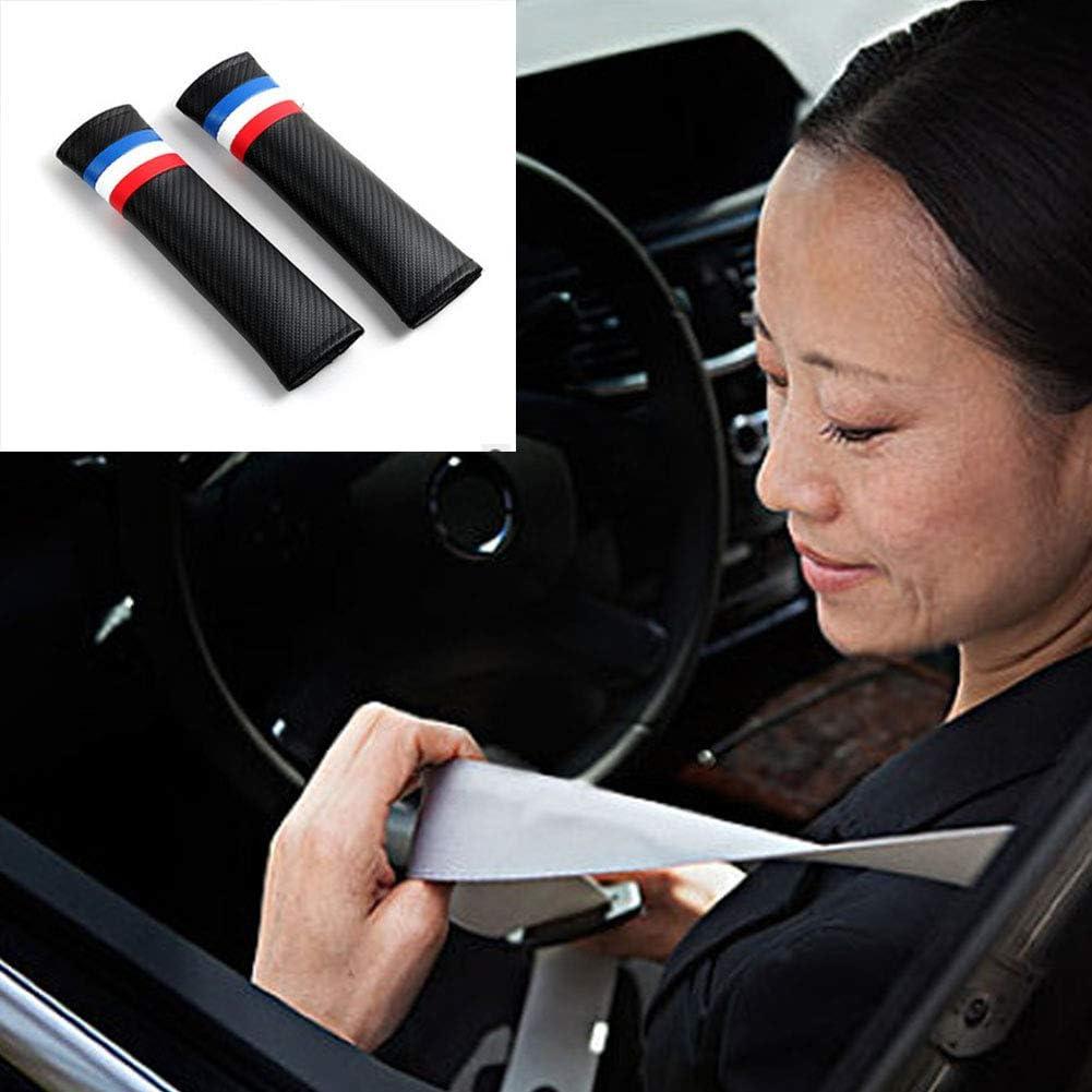 Ndier Seggiolino Auto Cintura in Pelle Pad PU Cintura di Sicurezza della Cinghia della Copertura Car Belt Protector Soft Comfort Tracolla Coperchio 1pair Blu, Bianco, Rosso