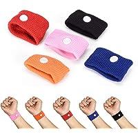 5 Pcs Anti Nausea Wristbands Travel Sick Wrist Band Motion Car Sea Plane Wrist Band 5 Colors