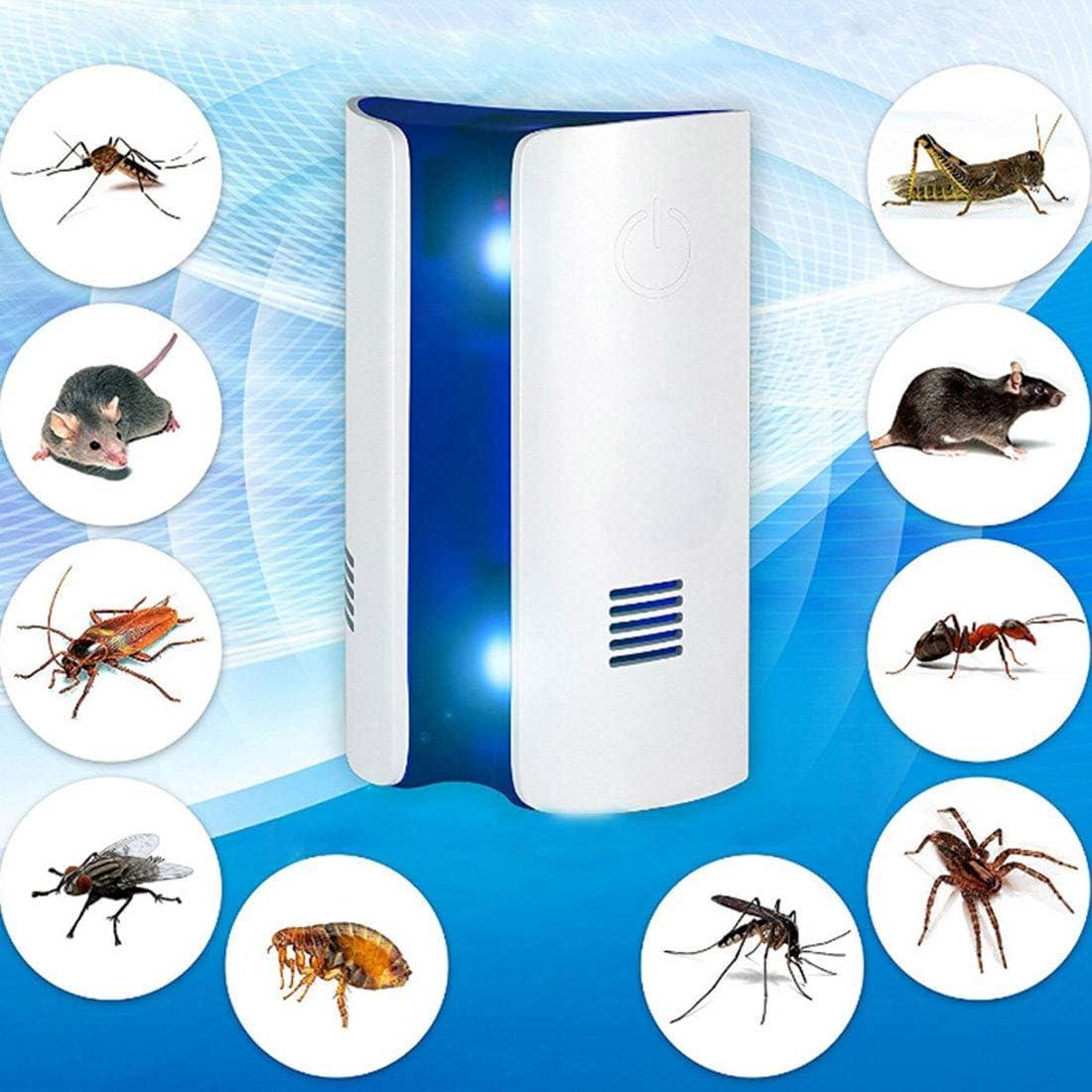 Insecticida ultrasónico electrónico ultrasónicos Electrónica Insecticida A dos no ajustable, Pink (enchufe de EE.UU.) de ondas electromagnéticas de frecuencia de conversión de ondas dobles multifunció
