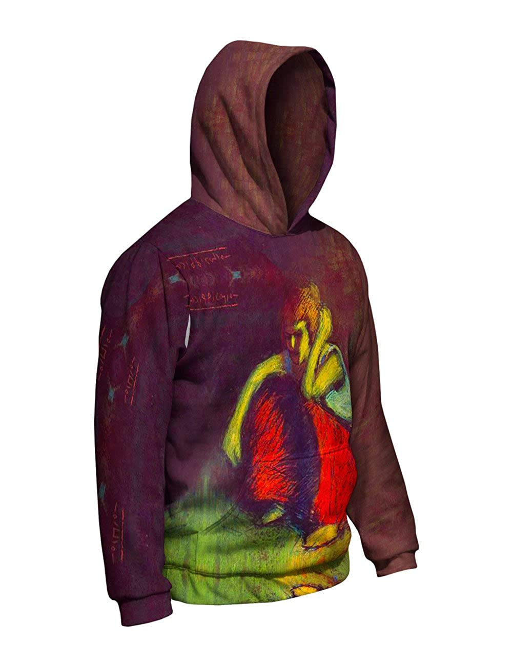 -Allover Print Yizzam- Pablo Picasso Mens Hoodie 1901 A red Skirt
