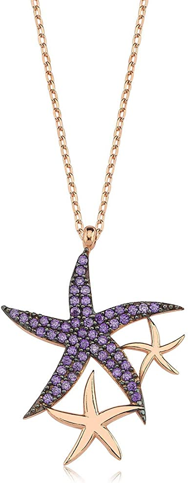 Sandlewood and Amethyst gold plated necklace