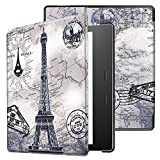 Kindle Oasis Case 2017,Kindle Oasis 9th Generation Cover,Leather Folio Case Cover for Amazon Kindle Oasis 2017