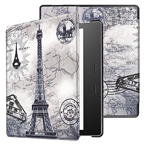 Kindle Oasis Case 2017,Kindle Oasis 9th Generation Cover,Leather Folio Case Cover for Amazon Kindle Oasis 2017 by DETUOSI