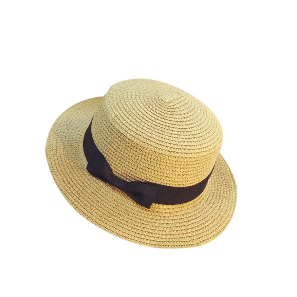 Woman's Straw Hat Large Brim Bowknot Sun Hat Women Summer Beach Cap