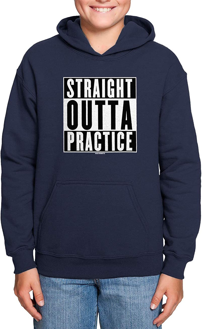 Sports Athlete Toddler//Youth Fleece Hoodie Haase Unlimited Straight Outta Practice